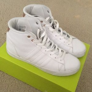 White adidas hightops